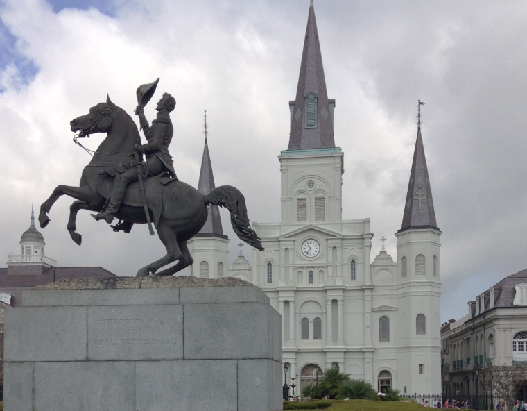 St. Louis Cathedral and General Andrew Jackson